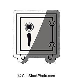 Isolated strongbox design - Strongbox icon. Money financial...