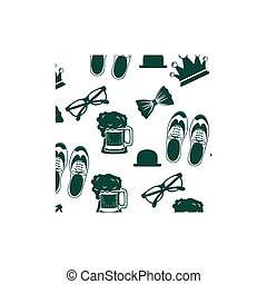 Shoes hat glasses and beer design - Shoes hat glasses and...