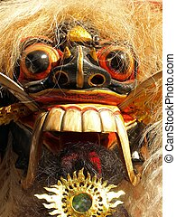 bail barong dance mask