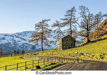 Hillside of Langdale, English Lake District, UK - Small hut...