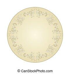 Button circular festive ornaments vintage vector.eps