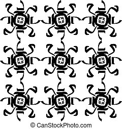 Mohammed - Patterns made by using the Arabic letters M, H,...