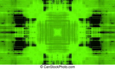 Green and black geometric looping motion design backdrop -...
