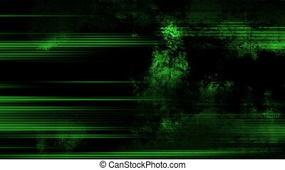 Green abstract grunge lines looping dirty - Animated green...