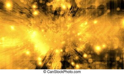 Burning yellow cosmic VJ loop - Animated burning yellow...