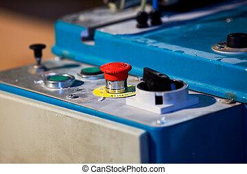 機器, 按鈕, 傷口, 緊急事件, 塑料