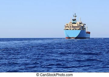 chemical transport boat offshore sailing tanker cargo blue...