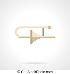 Adjustment of brass instruments flat vector icon