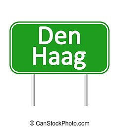 Den Haag road sign. - Den Haag road sign isolated on white...