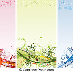 Grunge flower and Christmas background - Grunge paint flower...