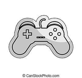 video game control isolated icon