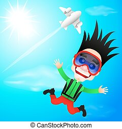 fun skydiver flying - extreme sports fun skydiver flying...