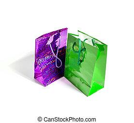 袋, 贈り物, 隔離された, 背景, 白, いくつか