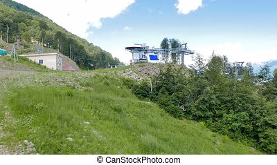 The station is open cableway. Rosa Khutor, Sochi, Russia....