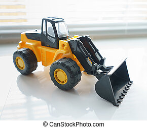 Toy Wheel Loader Close up - Toy Industrial Vehicle, Plastic...