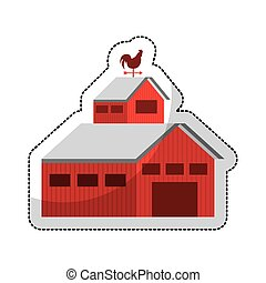 stable farm isolated icon vector illustration design