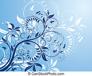 Flower background with buds, element for design, vector...