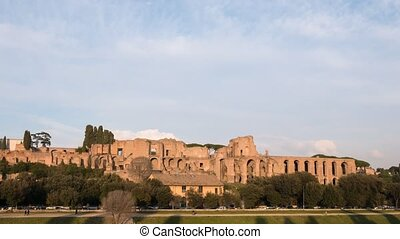 Ruins of the Palatine Hill is the centermost of the Seven...