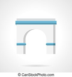 Architecture arch flat color vector icon - Classic antique...