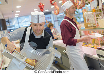 delicatessen shop workers