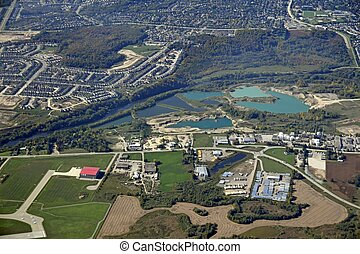 Kitchener Breslau industrial aerial - aerial view of a...