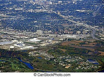 Kitchener Waterloo Centreville aerial - aerial view of an...