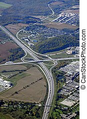 Kitchener Conestoga College aerial - aerial view of a...
