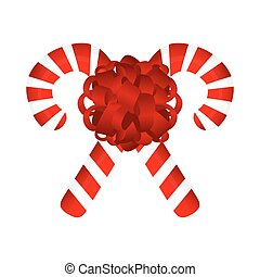 Sweet traditional Christmas candy on a white background