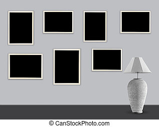 picture frame on wall background