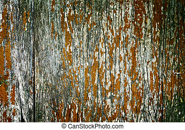Abstract wood textured backdrop with peeling dye