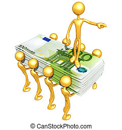 Money - A Concept And Presentation Illustration In 3D