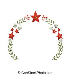 christmas flower decorative icon
