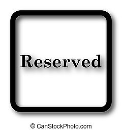Reserved icon, black website button on white background.