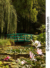 Monet\'s lilies - The garden of the famous painter Claude...