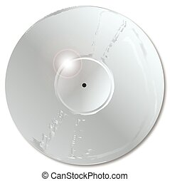 Platinum Record - LP platinum silver record with a blank...