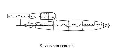 Doodle Bug Outline Drawing - V1 German World War 2 Rocket...