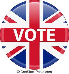 投票, ボタン, イギリス