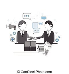 Businessman Partners Shake Hand Partnership Concept Business Web Banner