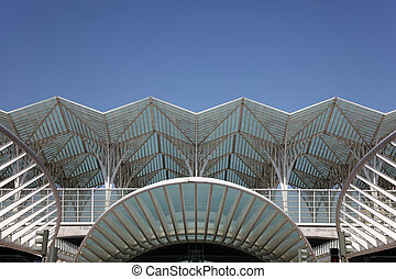 Gare do Oriente - main train station in Lisbon, Portugal