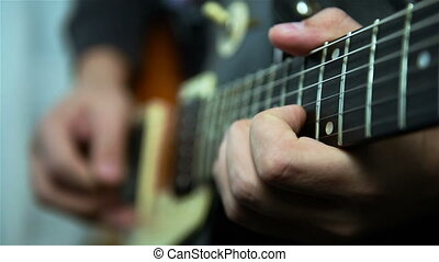 Guitarist Playing Solos - Professional Guitarist Playing...