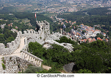 Castle of the Moors Castelo dos Mouros in Sintra, Portugal