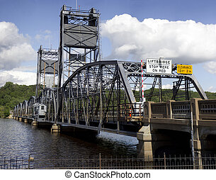 Stillwater Lift Bridge Entrance - The entrance to the...