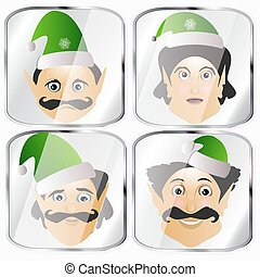 the elves a few icon vector normal clumsy rough on white...