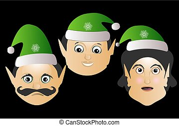 the elves a few icon vector normal clumsy brute on black...