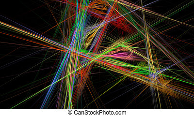 Colorful lines abstract background for creative design