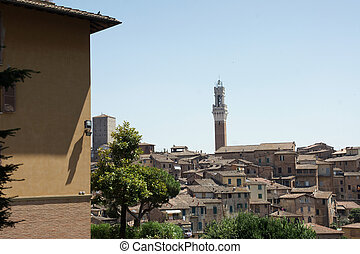 Sienna - View of Sienna city in Italy