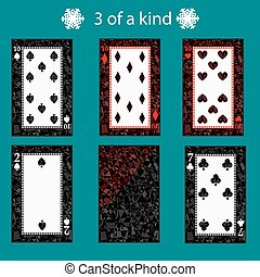free of a kinq playing card poker combination. vector illustration eps 10. On  green background. To use for design, registration, the websites, dressing, the press, etc.