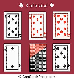 free of a kinq playing card poker combination. vector illustration eps 10. On  red background. To use for design, registration, the websites, dressing, the press, etc.