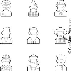 Specialty icons set, outline style - Specialty icons set....