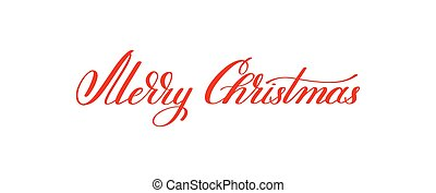 merry christmas red handwritten lettering inscription holiday ph